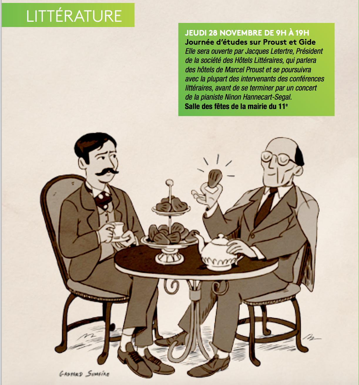 Journée d'étude Marcel Proust et André Gide – Mairie du 11e
